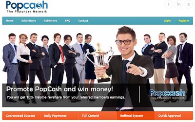 Popcash Review-Legit Paying Popunder Network