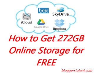 How to Get 272GB Online Storage for FREE