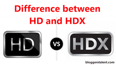 Difference between HD and HDX Picture