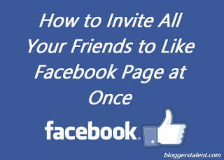 How to Invite All Your Friends to Like Facebook Page at Once